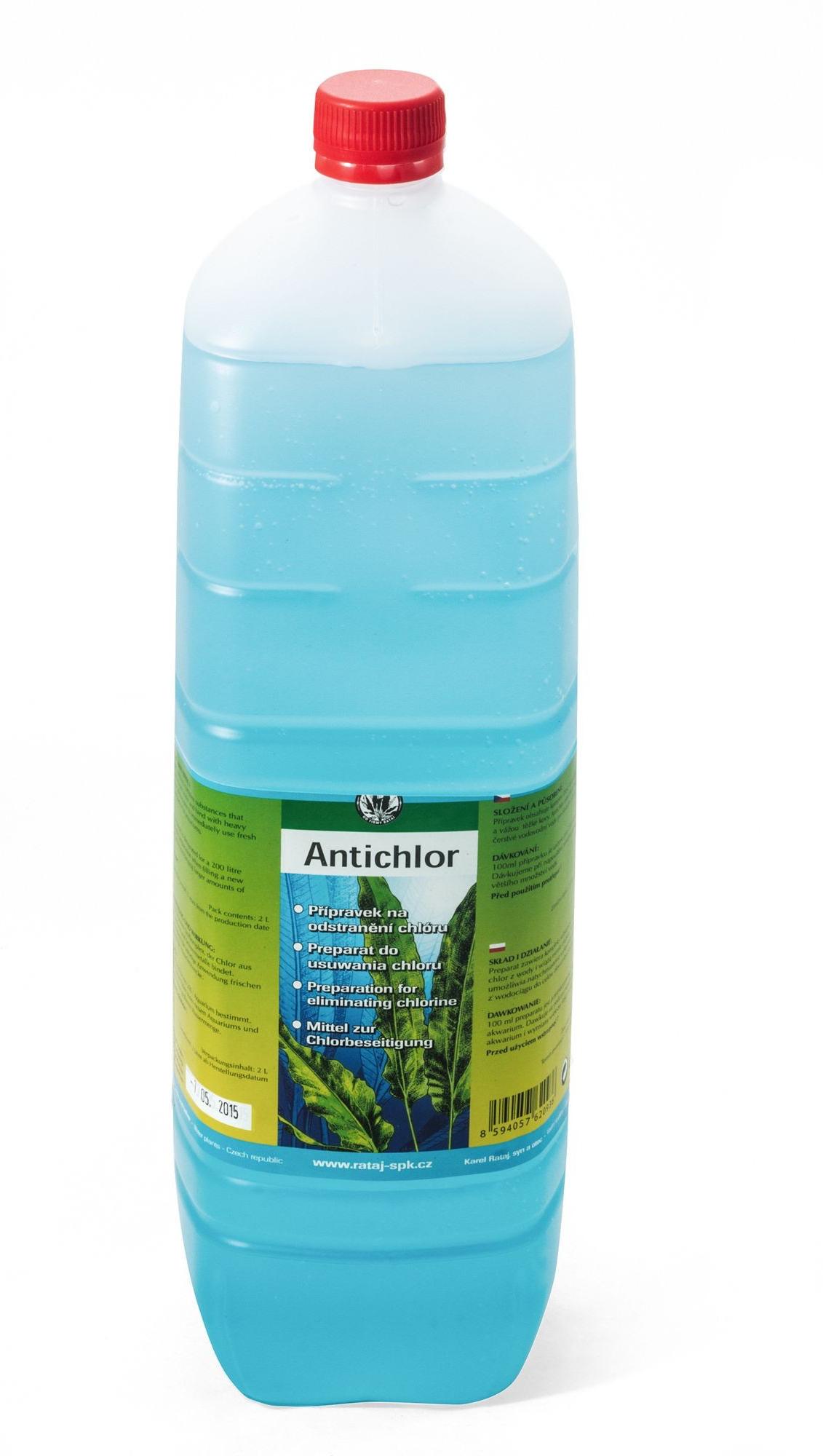 Preparat Rataj ANTICHLOR [uzupełnienie 2000ml] - podstawowy uzdatniacz wody