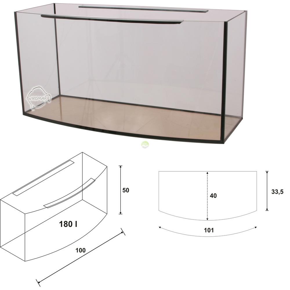 Akwarium Wromak 100x40x50 [180l] - profilowane - odbiór osobisty