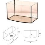 Akwarium Wromak 40x25x25cm [23l] - profilowane - odbiór osobisty