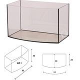 Akwarium Wromak 50x30x30cm [40l] - profil