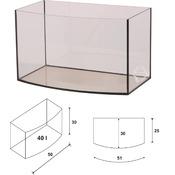 Akwarium Wromak 50x30x30cm [40l] - profilowane - odbiór osobisty