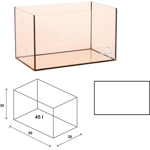 Akwarium Wromak 50x30x30cm [45l] - proste - odbiór osobisty