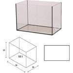 Akwarium Wromak 50x30x35cm [52l] - proste - odbiór osobisty