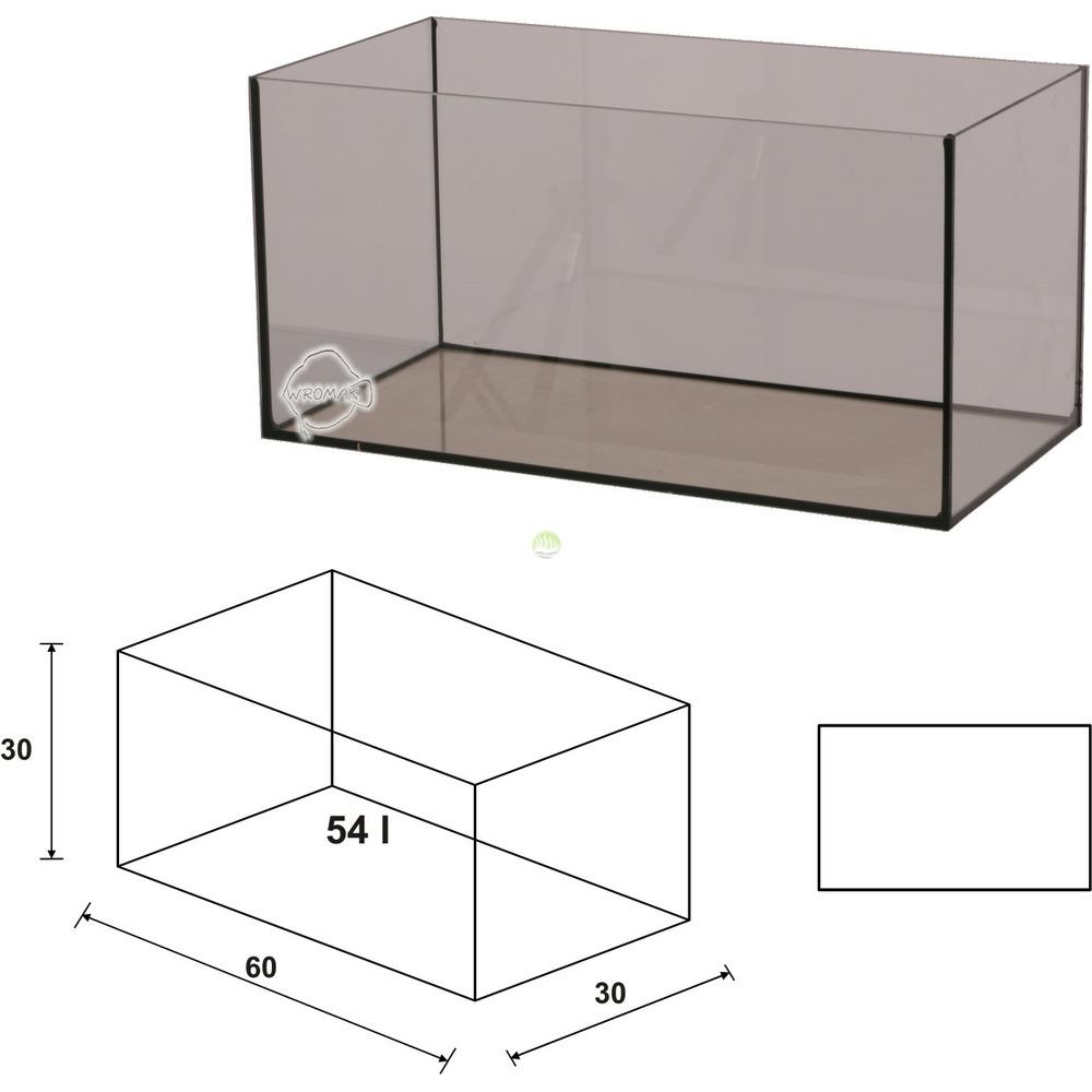 Akwarium Wromak 60x30x30 [54l] - proste