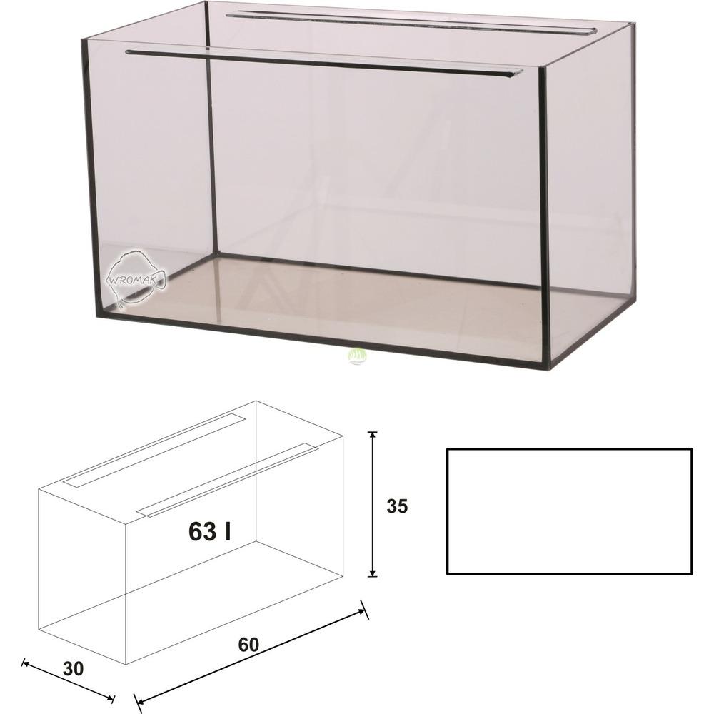 Akwarium Wromak 60x30x35 [63l] - proste