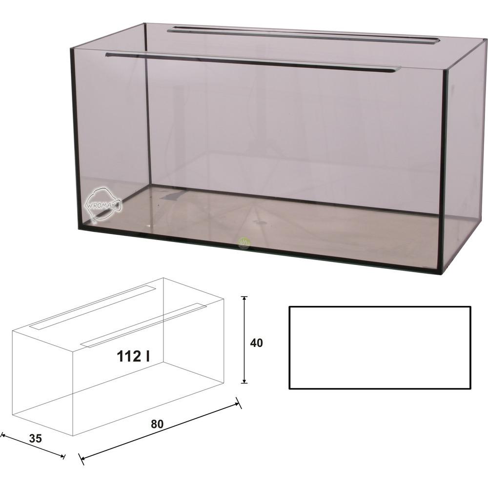 Akwarium Wromak 80x35x35 [98l] - proste - odbiór osobisty