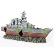 AMOCO - Wrak statku OKRĘT WOJENNY 39x9,8x19,6cm