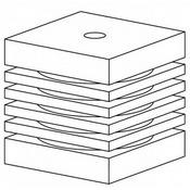 Aquael Wkład gąbkowy TURBO - 1000/1500/2000 (2 szt.) (113910)