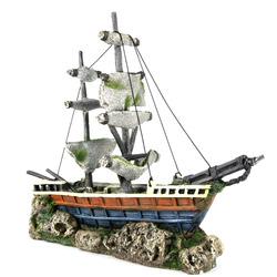 BOAT WITH SAILS [38x12.5x31.5cm] - statek żaglowiec
