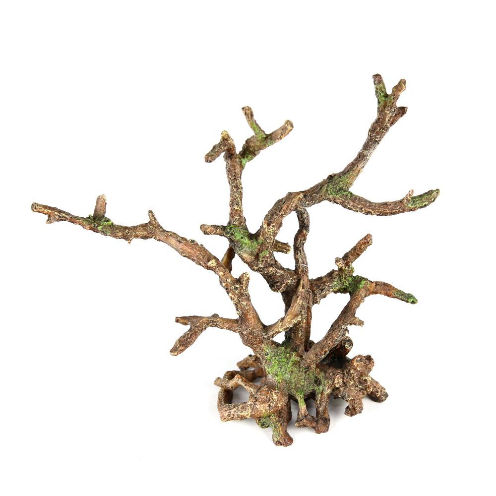 BONSAI BROWN [25.5x10x24cm] - korzeń bonsai rozgałęziony (bez liści)