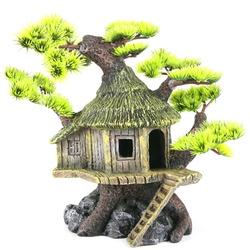 BONSAI-HOUSE [20x15.5x20cm] - dom na drzewie bonsai z igłami