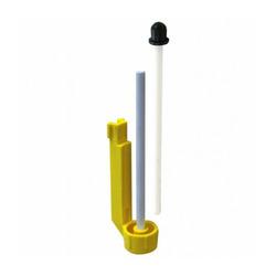 Ceramiczny trzpień wirnika z tuleją gumową do filtra 106 - 206 (A20039)