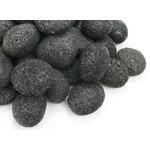 Kamienie otoczaki Black Lava Pebbles [1kg] - czarna lawa (rozmiar 1-2cm)