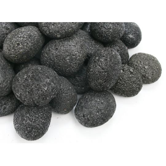 Kamienie otoczaki Black Lava Pebbles [1kg] - czarna lawa (rozmiar 2-3cm)