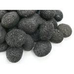Kamienie otoczaki Black Lava Pebbles [1kg] - czarna lawa (rozmiar 4.5 - 6.5cm)