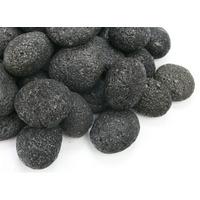 Kamienie otoczaki Black Lava Pebbles [1kg] - czarna lawa (rozmiar 7-11cm)