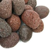 Kamienie otoczaki RED Lava Pebbles [1kg] - brązowa lawa (rozmiar 2-3cm)