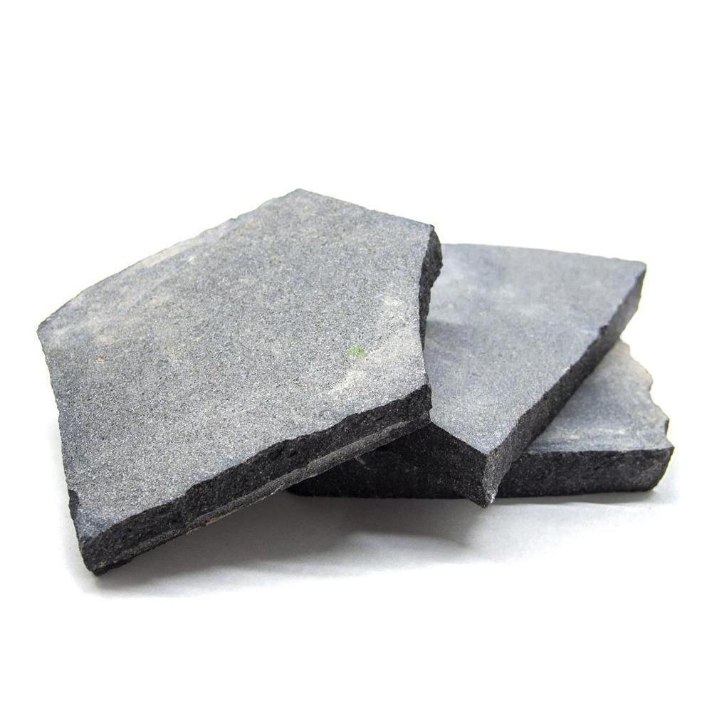 Kamienie Slice Stone [1kg] - ciemno szar płytki (łupek)