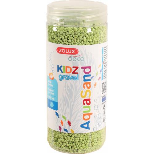 Kolorowy żwir Aquasand Kidz Gravel [500ml] - zielony