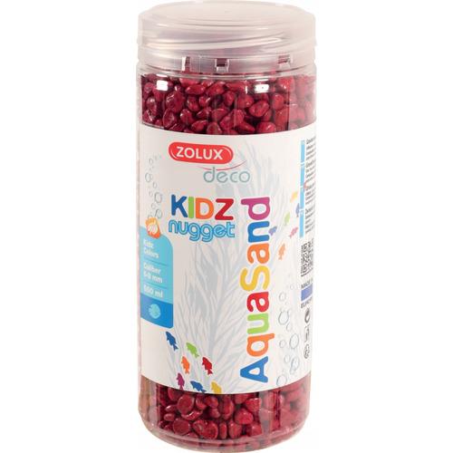 Kolorowy żwir Aquasand Kidz Nugget [500ml] - czerwony