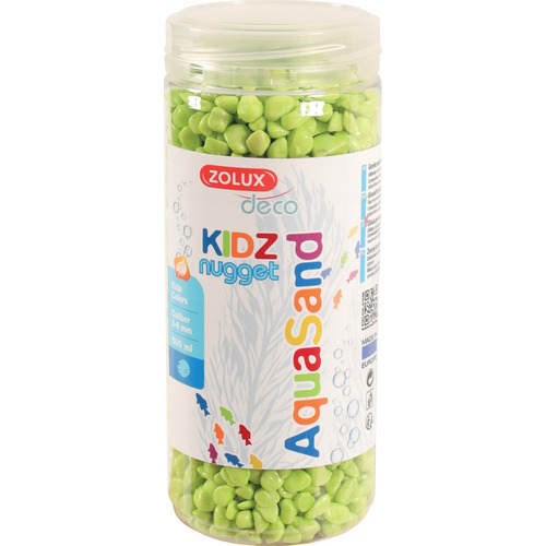 Kolorowy żwir Aquasand Kidz Nugget [500ml] - zielony