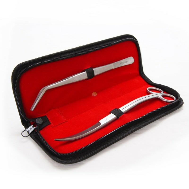 Komplet 2 narzędzi do pielęgnacji akwarium [20cm] - w etui