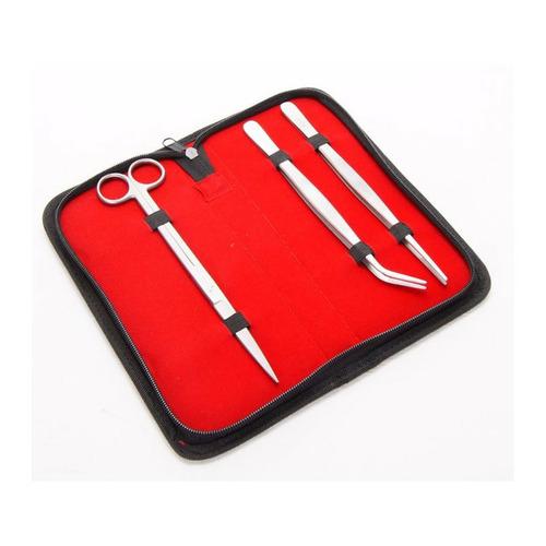 Komplet 3 narzędzi do pielęgnacji akwarium [20cm] - w etui