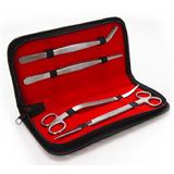 Komplet 4 narzędzi do pielęgnacji akwarium (w etui)