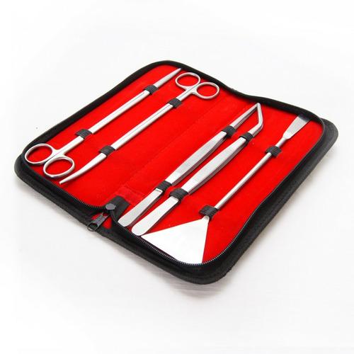 Komplet 5 narzędzi do pielęgnacji akwarium (w etui) - 30cm