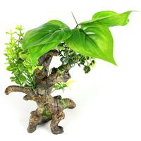 Korzeń z roślinami 14.5x9x1.,5cm (FLORA-SCAPE 6s)