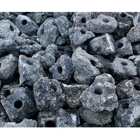 Lawa wulkaniczna czarna drążona [1kg] - 1 otwór
