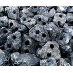 Lawa wulkaniczna czarna drążona [1kg] - 2 otwory