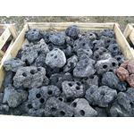 Lawa wulkaniczna czarna drążona [1kg] - 3 otwory