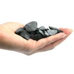 Naturalne kamienie GRAVEL Pebbels Black [2kg] - ciemne, płaskie (10-50mm)