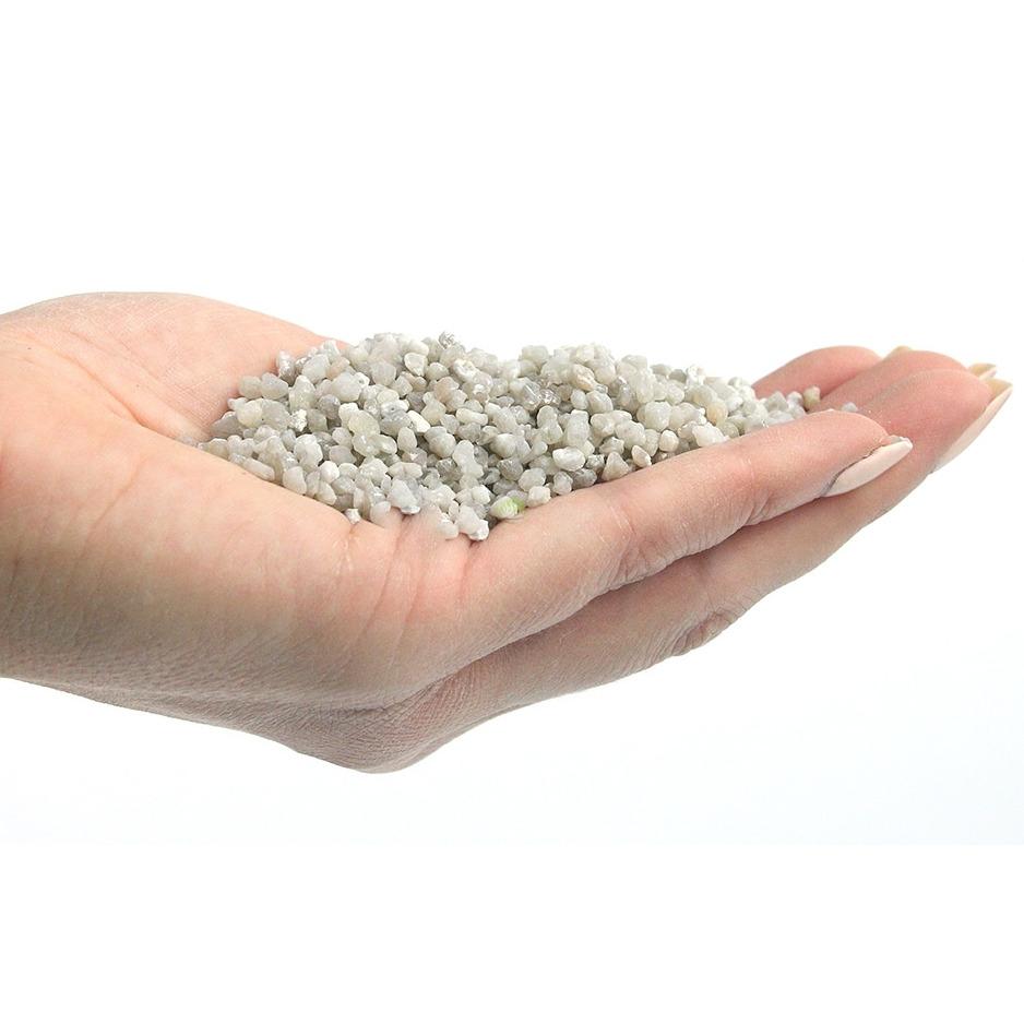 Naturalny żwir szary GRAVEL Quartz Grey [2kg] - szary, drobny (2-3mm)