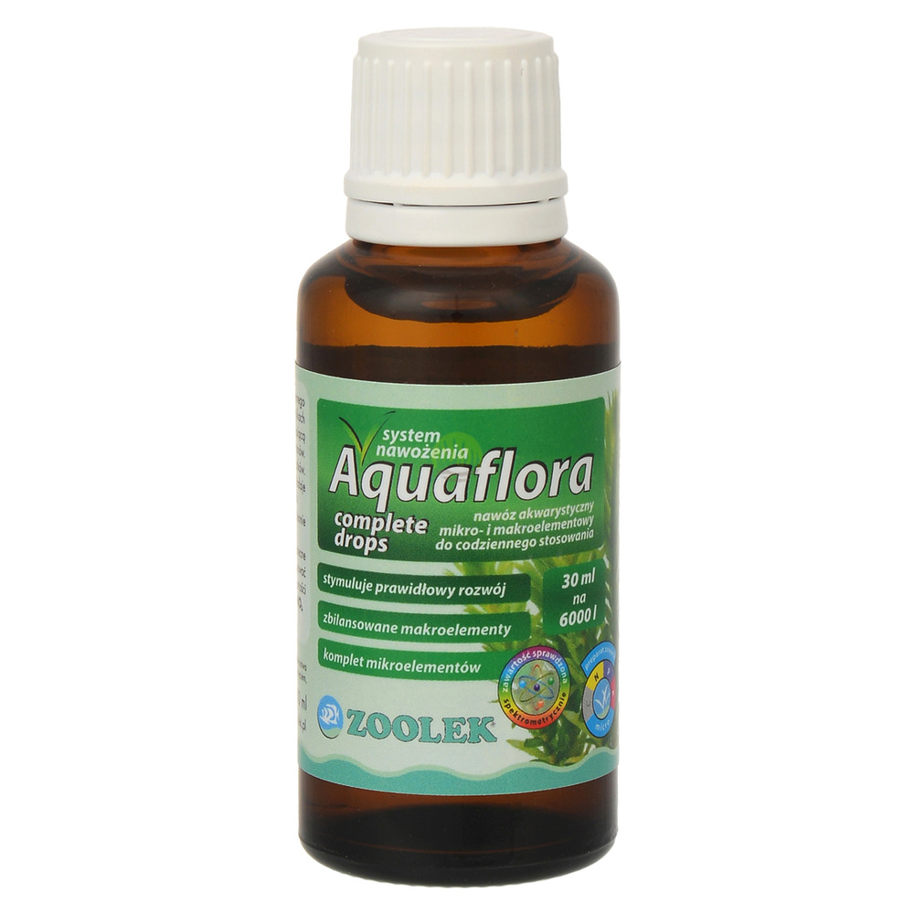 Nawóz Zoolek Aquaflora COMPLETE DROPS [30ml] - NPK + mikroelementy