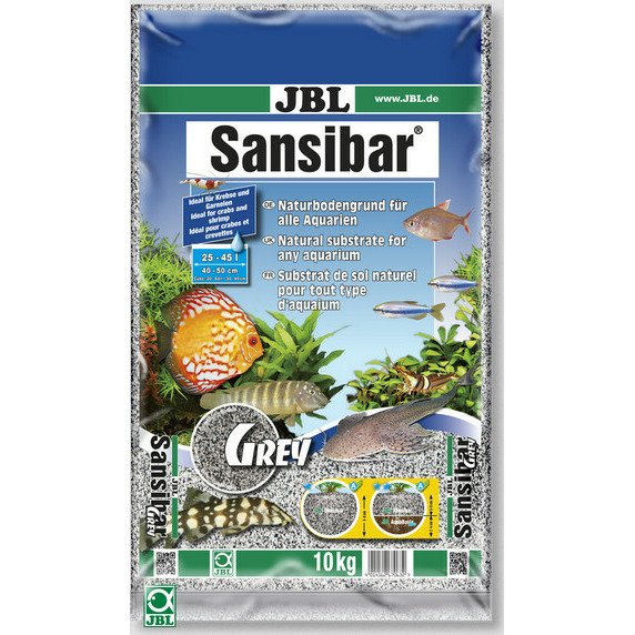 Piasek JBL Sansibar GREY 0.2-0.6mm [10kg] - popielaty