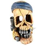 PIRATE SKULL PISTOL HAND - Czaszka w ręce PISTOLET 15,5x12x19,3cm