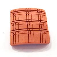 Płytka ceramiczna do szczepienia mchów [40x40mm] - ceglana