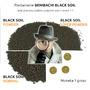 Podłoże dla krewetek Benibachi Black Soil POWDER FULVIC [3kg/3.6l]