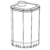 Pojemnik Aquael Turbo 350 - mały komplet (100268)