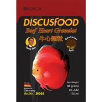 Pokarm DiscusFood Beef Heart Soft [80g] - granulat