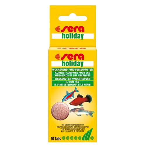 Pokarm SERA Holiday [10 tabl.] - pokarm w tabletkach na wakacje