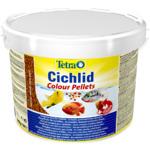 Pokarm Tetra Cichlid Colour [10l, wiaderko] - granulowany dla pielęgnic