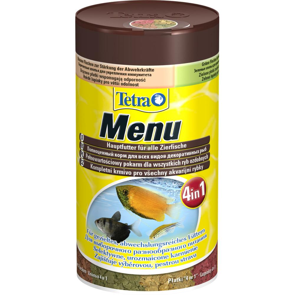 Pokarm Tetra Menu [250ml] - dla ryb ozdobnych, płatki