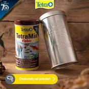Pokarm Tetra Min [1l] - dla ryb ozdobnych, płatki  + metalowa puszka GRATIS