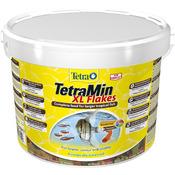 Pokarm Tetra Min XL Flakes [10l, wiaderko] - dla dużych ryb ozdobnych, płatki