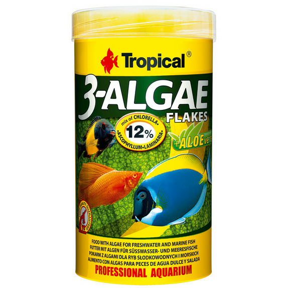 Pokarm Tropical 3-Algae Flakes [250ml] - 77164