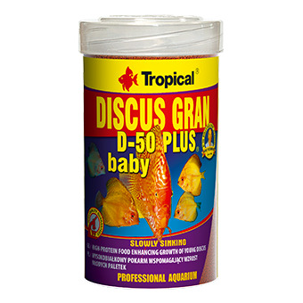 Pokarm Tropical Discus gran D-50 PLUS Baby 100ml (60673) - pokarm dla paletek
