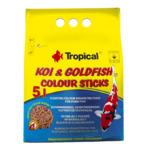 Pokarm Tropical Koi&Goldfish colour sticks [5L/430g] (40857) wiaderko- pokarm wybarwiający